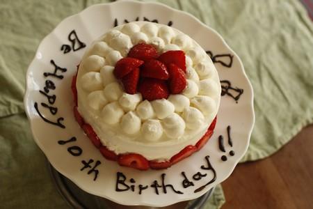 お菓子教室calmo バースデーケーキ