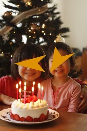 お祝いケーキとキラキラ姉妹☆