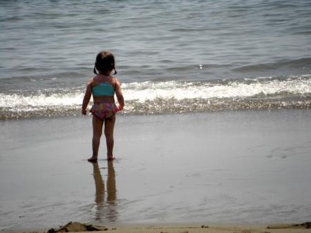 柚3歳 佐賀の海にて