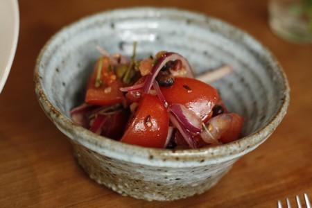 クミンが香るトマトのマリネ